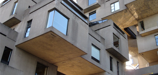 Photo de l'Habitat 67, immeuble patrimonial