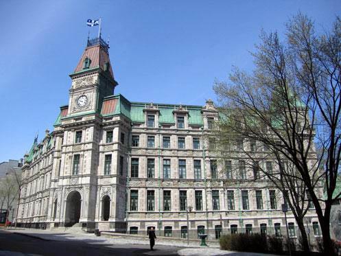 Photo de l'ancien palais de justice de Québec, immeuble patrimonial classé