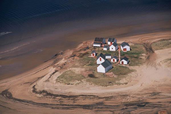 Photo du site historique des Galets dans la baie de Natashquan