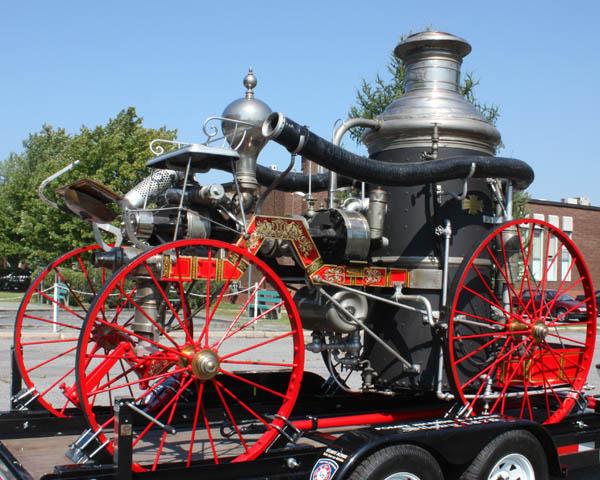 Photo de la pompe à incendie Silsby en Montérégie